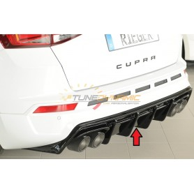 Diffuseur de pare-chocs arrière noir brillant Rieger pour SEAT ATECA CUPRA TYPE 5FP