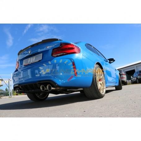 Silencieux arrière duplex inox 2x90mm type 25 pour BMW M2 COMPETITION + CS TYPE F22
