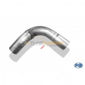 Tube de connexion silencieux arrière/intermédiaire inox pour AUDI 80/90 TYPE 89/B3