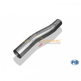 copy of Silent rear duplex stainless steel 1x160x80mm type 53 for VOLKSWAGEN T5/T6 4-MOTION
