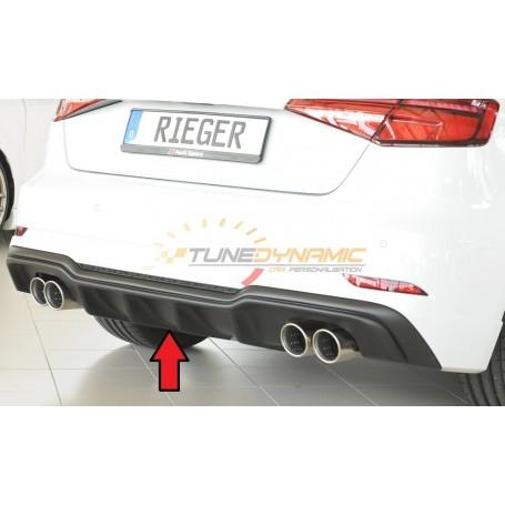 copy of Rieger shiny black rear bumper diffuser for AUDI A3 TYPE 8V 3 PORTES/SPORTBACK