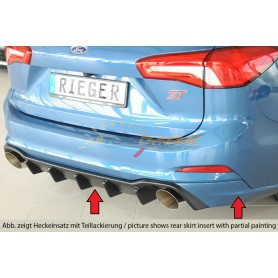 copy of Rieger black rear bumper diffuser for FORD FOCUS MK4 ST / ST-LINE