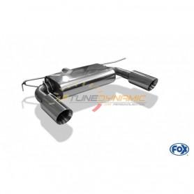 Silencieux arrière duplex inox 1x100mm type 25 pour AUDI TT QUATTRO TYPE 8S/FV3