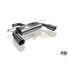 Silencieux arrière duplex inox 1x100mm type 25 pour AUDI TT TYPE 8S/FV3