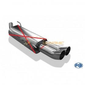 Tube de suppression de silencieux arrière inox 2x76mm type 18 pour VOLKSWAGEN GOLF GTI/VR6 MK3