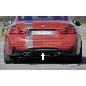 Diffuseur de pare-chocs arrière noir brillant Rieger pour BMW SERIE 4 TYPE F32/F33/F36