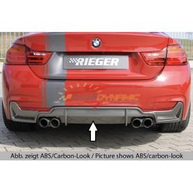 copy of Rieger shiny black rear bumper diffuser for Seat Leon 5F FR ST