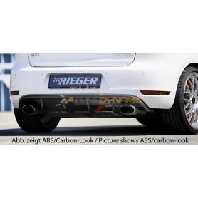 Diffuseur de pare-chocs arrière noir brillant Rieger pour VW GOLF MK6 GTI/GTD