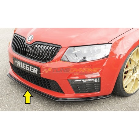 copy of Rieger black rear bumper diffuser for SKODA OCTAVIA RS TYPE 5E FACELIFT