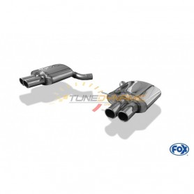 DESTOCKAGE - Silencieux arrière duplex inox 2x90mm type 16 pour BMW 650i TYPE F12 CABRIOLET