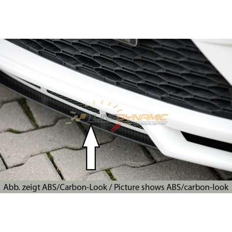Black blade for adding Rieger front bumpers for Seat Leon 5F