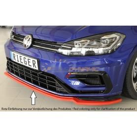 Lame de pare-chocs avant Rieger pour Volkswagen Golf 7 R/R-Line Facelift