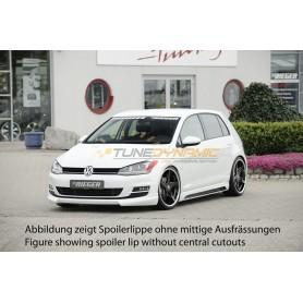 Ajout de pare-chocs avant Rieger pour Volkswagen Golf 7 avec prise d'air