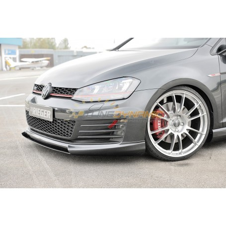 Lame pour ajout de pare-chocs avant Rieger pour Volkswagen Golf 7 GTI/GTD