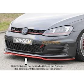 Lame de pare-chocs avant noire Rieger pour Volkswagen Golf 7 GTI/GTD