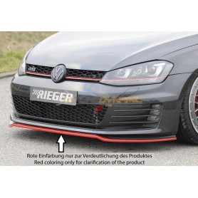 Lame de pare-chocs avant Rieger pour Volkswagen Golf 7 GTI/GTD