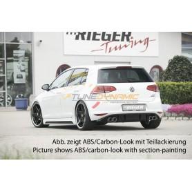 Bas de caisse avec insert Rieger pour Volkswagen Golf 7