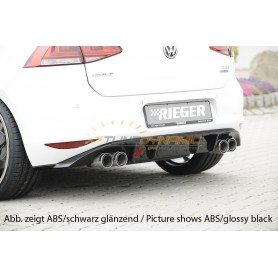 Rieger rear bumper diffuser for Volkswagen Golf 7