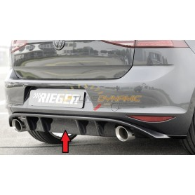 Rieger black rear bumper diffuser for Volkswagen Golf 7