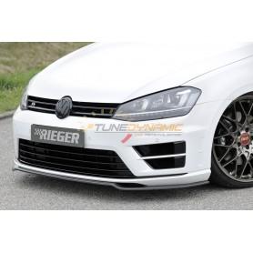 Lame de pare-chocs avant Rieger en carbone pour Volkswagen Golf 7 R