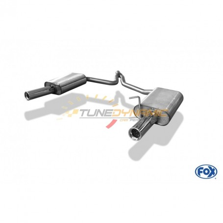 Silent rear duplex stainless steel 1x76mm type 13 for AUDI A4 TYPE B7
