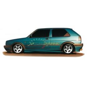 Bas de caisse Rieger pour Volkswagen Golf 2 3 portes