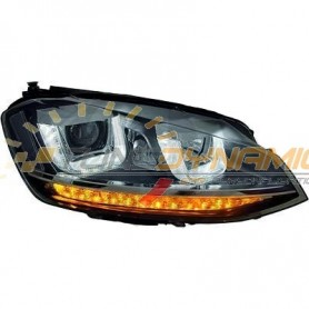 Black background optical kit for Volkswagen Golf 7