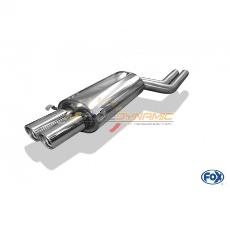 Silent stainless steel rear 2x76mm type 17 for AUDI A8/S8 TYPE D2/D8
