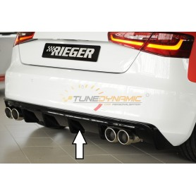 Rieger black rear bumper diffuser for Audi A3 type 8V