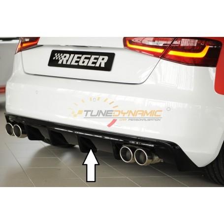 Diffuseur de pare-chocs arrière noir Rieger pour Audi A3 type 8V