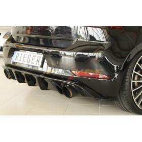 Diffuseur de pare-chocs arrière noir brillant Rieger pour Volkswagen Golf 7 GTI Facelift
