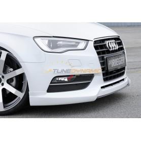 Lame noire pour ajout de pare-chocs avant Rieger pour Audi A3 type 8V