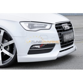 Carbon-look blade for Rieger front bumper for Audi A3 type 8V