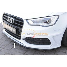 Rieger shiny black front bumper blade for Audi A3/S3 type 8V S-LINE