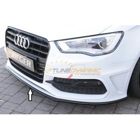 Lame de pare-chocs avant noir brillant Rieger pour Audi A3/S3 type 8V S-LINE