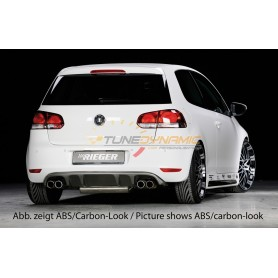 Rieger rear bumper diffuser for Volkswagen Golf 6