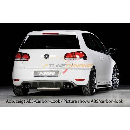 Diffuseur de pare-chocs arrière Rieger pour Volkswagen Golf 6