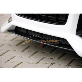 Lame pour pare-chocs avant carbon-look Rieger pour Audi A4/S4 type B8/B81