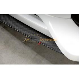 Lame carbon-look pour ajout de pare-chocs avant Rieger pour Audi A4 type B8/B81
