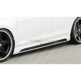 Bas de caisse gauche carbon-look Rieger avec insert pour Seat Leon 5F portes