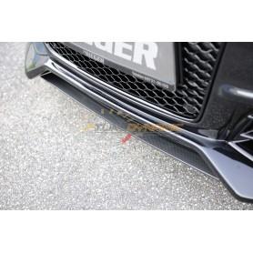 Lame carbon-look pour pare-chocs avant Rieger pour Audi A4/S4 type B8/B81