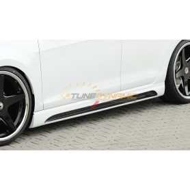 Bas de caisse droit carbon-look Rieger avec insert pour Seat Leon 5F portes