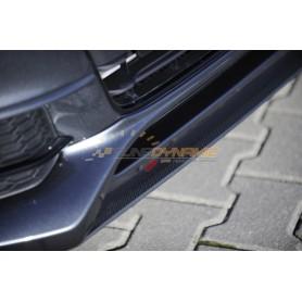Lame carbon-look pour ajout de pare-chocs avant Rieger pour AUDI A4/S4 type B8/B81 S-Line