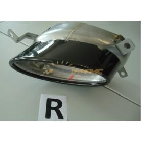 Embout d'échappement droit noir brillant pour ajout de pare-chocs arrière Rieger pour AUDI A4/S4 type B8/B81 Facelift