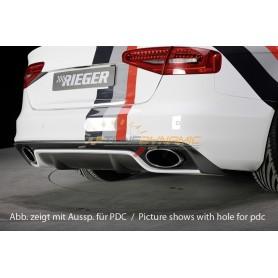 Pare-chocs arrière Rieger pour Audi A4/S4 type B8/B81 Facelift