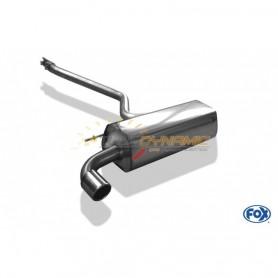Silencieux arrière inox 1x90mm type 16 pour BMW SERIE 1 114i/116i F20/F21