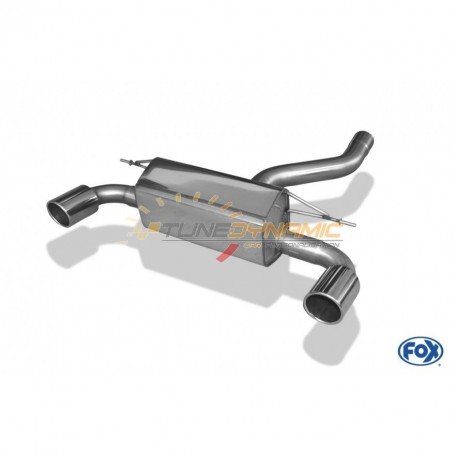 Silent rear duplex stainless steel 1x100mm type 16 for BMW SERIE 1 M135i F20/F21
