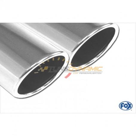 Silent rear duplex stainless steel duplex type 16 for BMW SERIE 1 M135i F20/F21