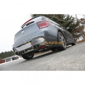 Silencieux arrière duplex inox 2x80mm type 14 pour BMW SERIE 1 M135i F20/F21