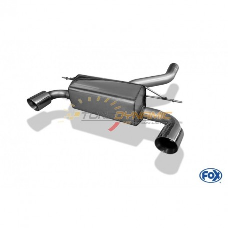 Silent rear duplex stainless steel 1x100mm type 25 for BMW SERIE 1 M135i F20/F21